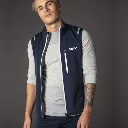 Endure warm vest M Dark navy