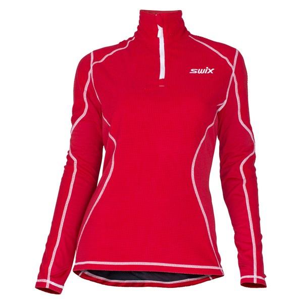 Starlit polo midlayer Womens Red
