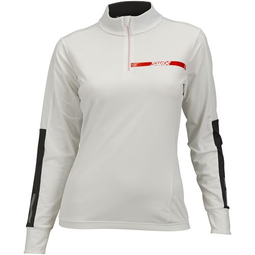 Carbon wicking NTS 1/2 zip W Bright white