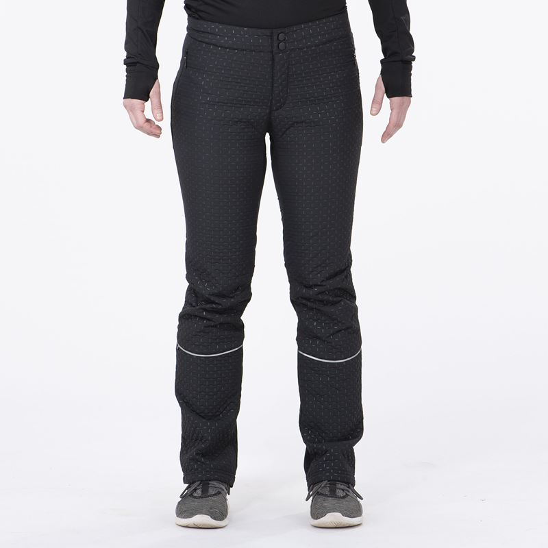 MENALI - Women's Ultra Quilted PANTS Black