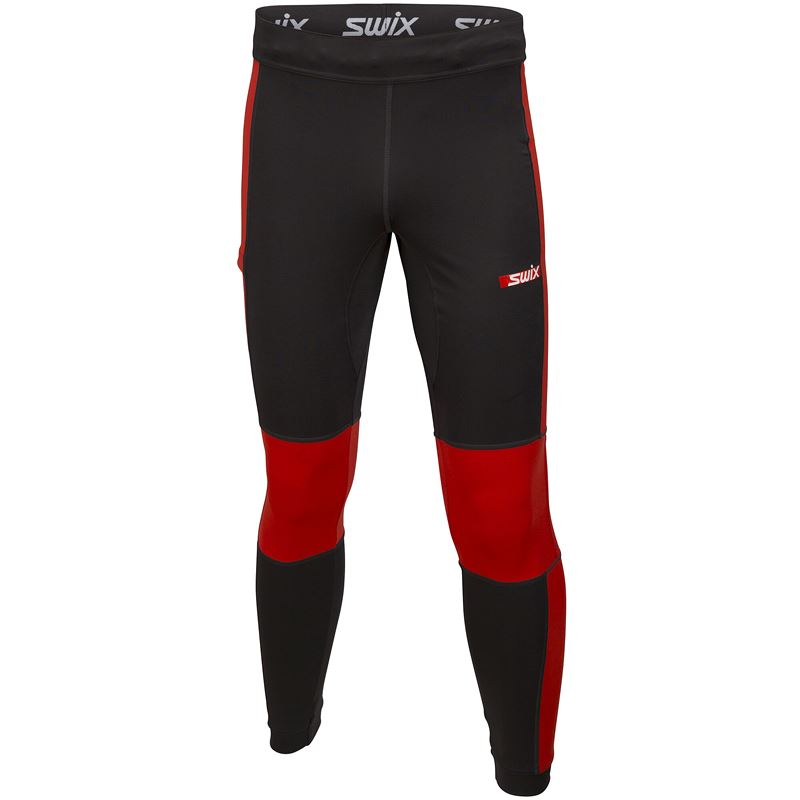 Carbon tights M Fiery red