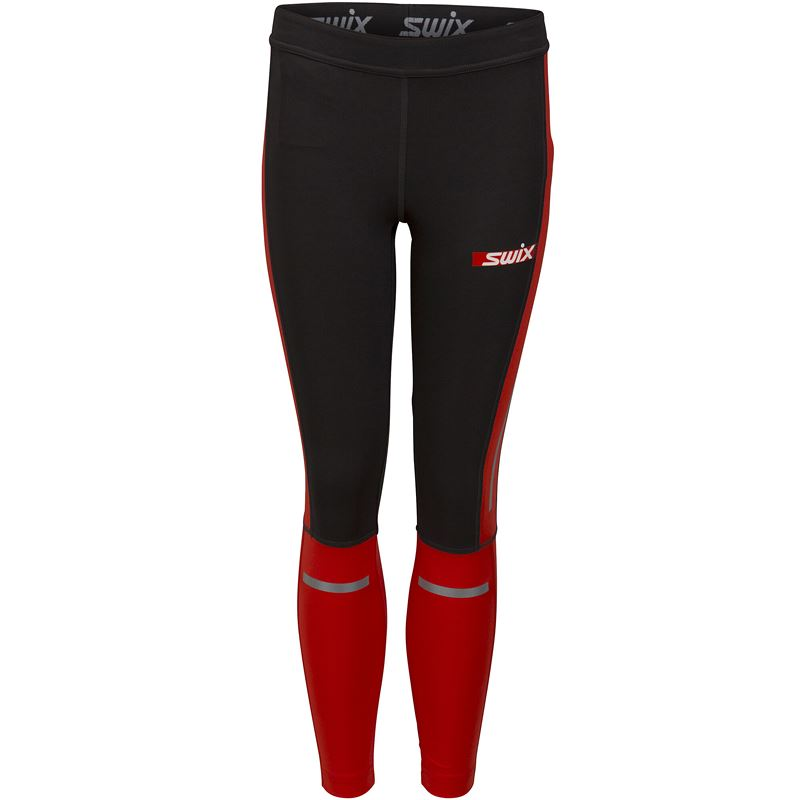 Carbon tights Jr Fiery red