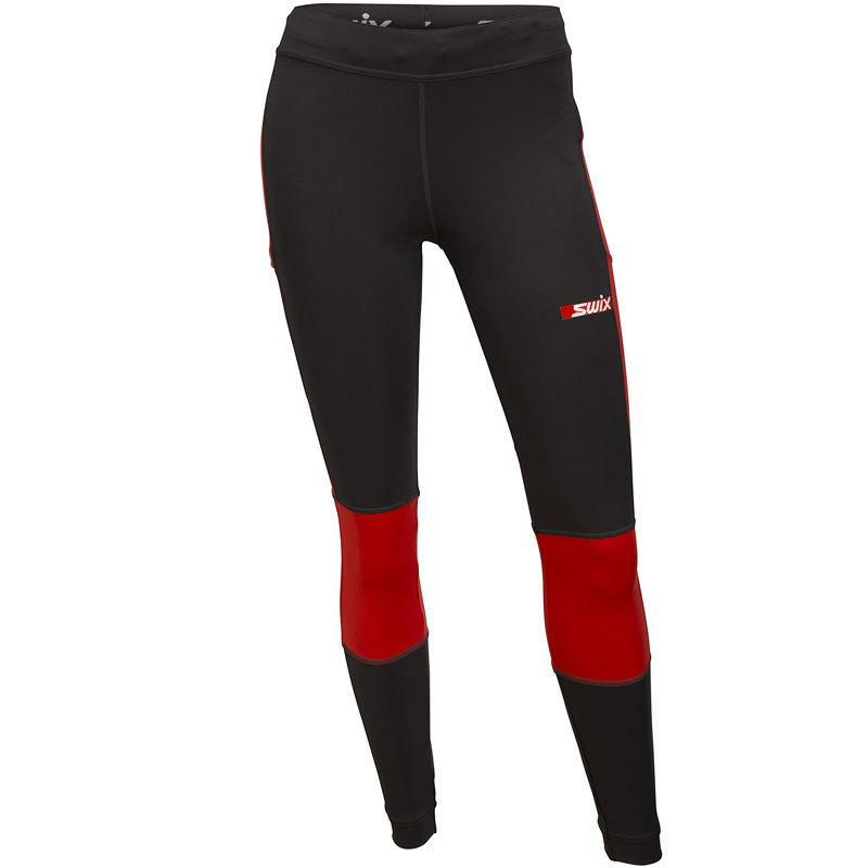 Carbon tights W Fiery red