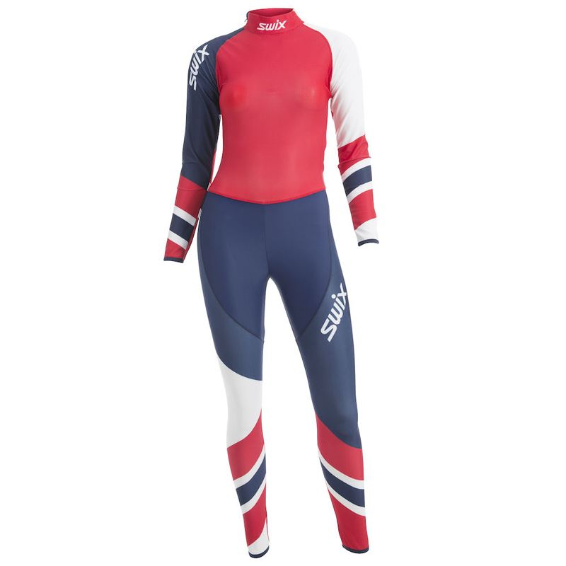 RaceX 1-pcs skisuit Womens Red Elite