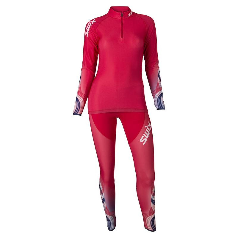 RaceX 2-pcs skisuit Womens Red/New Navy