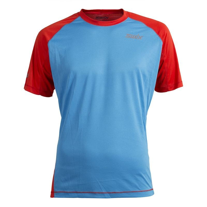 Airlight t-shirt Mens Sienna/cold blue