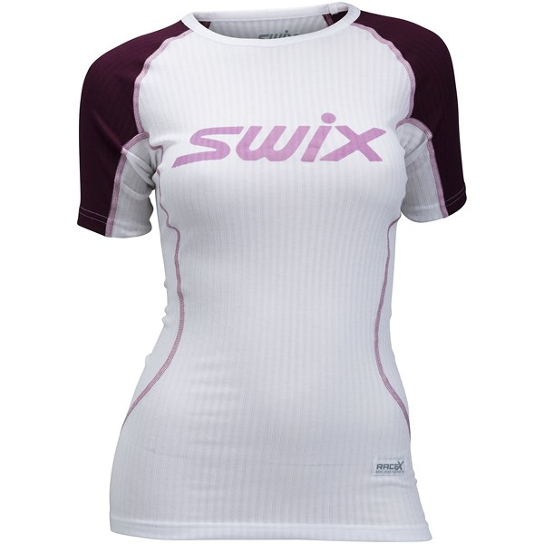 RaceX bodyw SS Womens Dark Aubergine/Bright White
