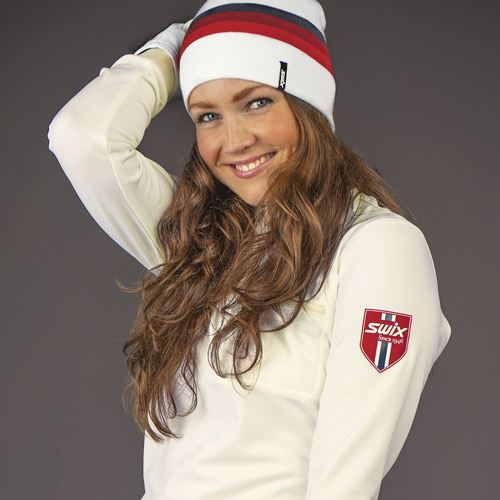 Marka Beanie Snow White/Red