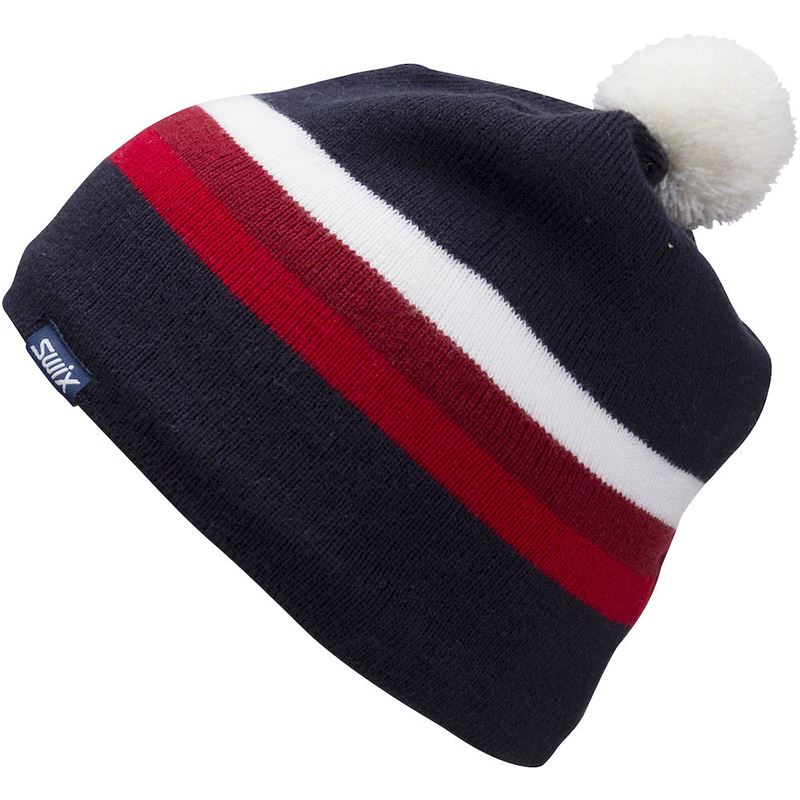 Marka Beanie Jr Dark Navy/Red