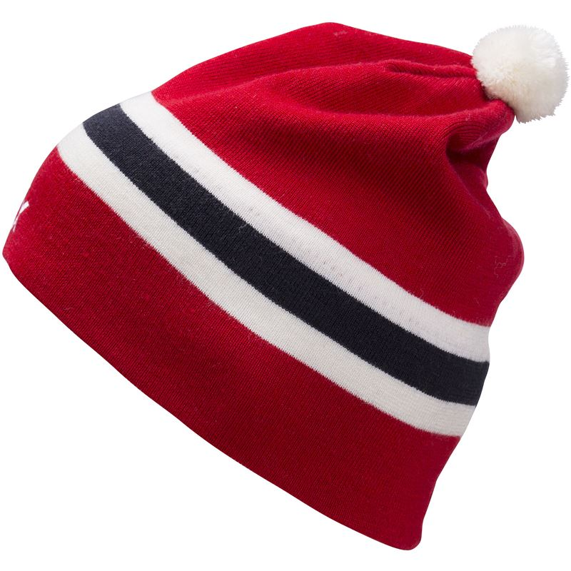 Stripes Beanie Red