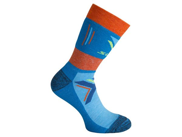 Cross country warm sock Mykonos Blue