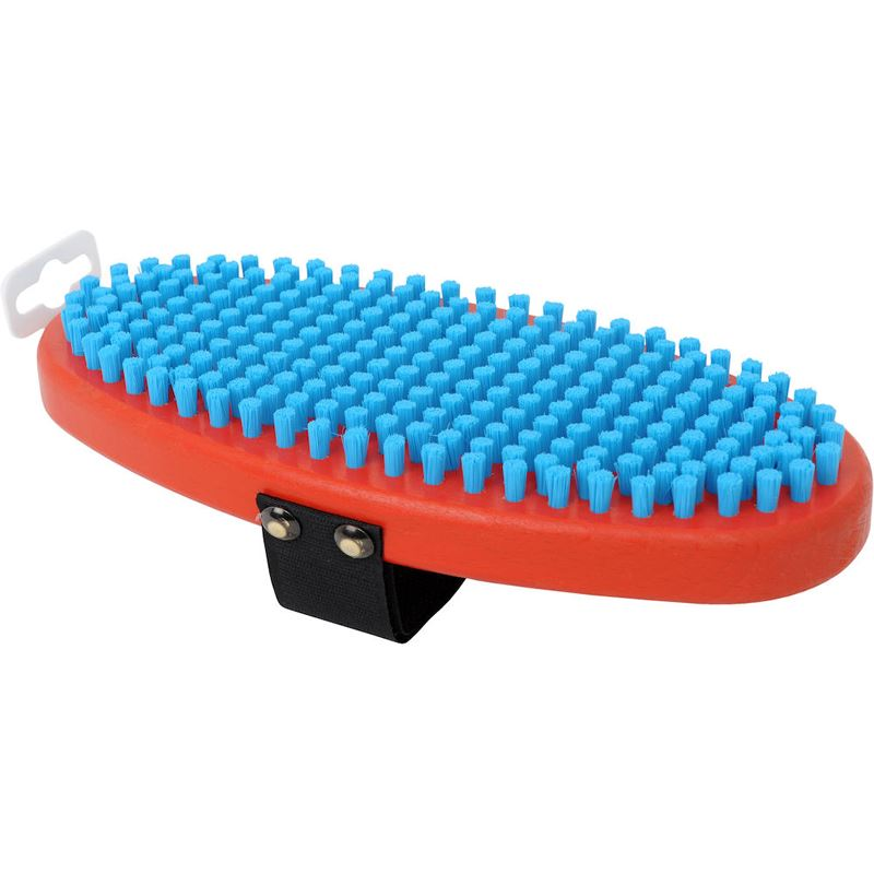 T160O Brush oval, fine blue nylon